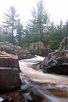 The Eau Claire River cuts through rock at the Dells of the Eau Claire River County Park in Marathon County Wisconsin.