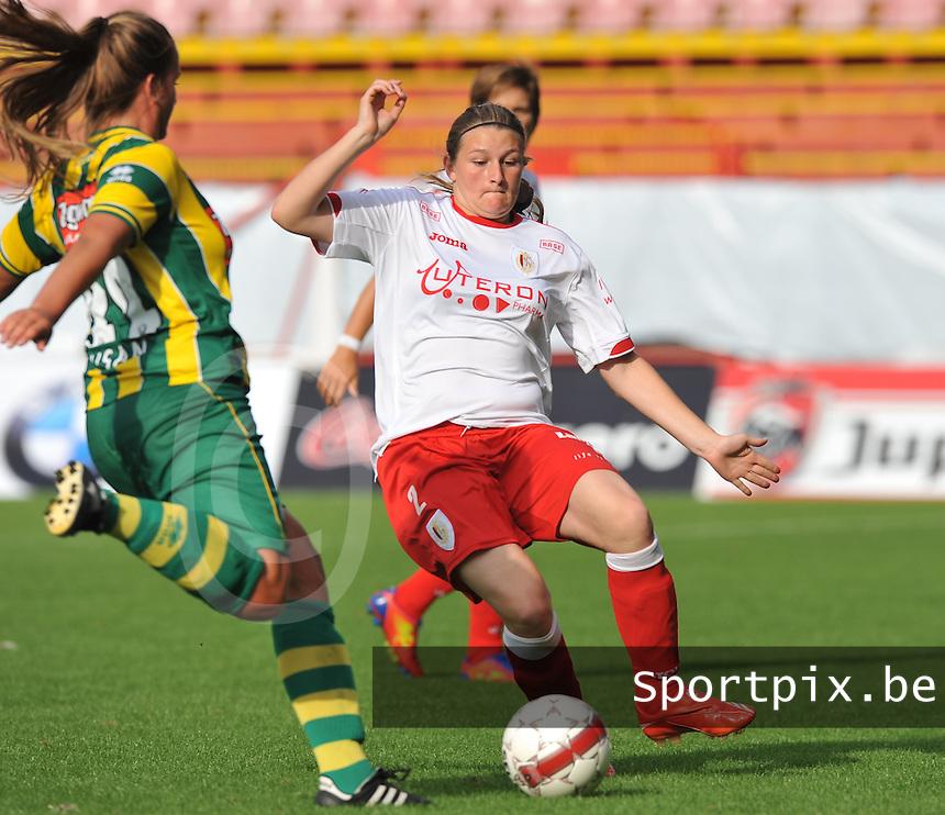 BeNe Supercup 2012 ; Standard Femina De Liege - Ado Den Haag : Melanie Mignon.foto DAVID CATRY / Vrouwenteam.be