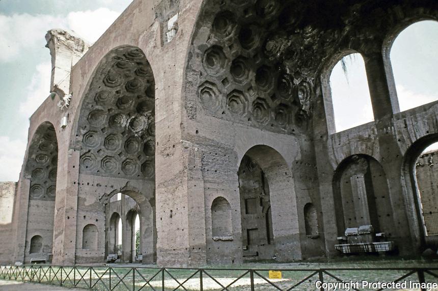 Basilica of Maxentius and Constantine, Roman Forum, Rome, Italy, 312 AD