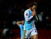 Blackburn Rovers' Bradley Dack rues a missed chance in injury time<br /> <br /> Photographer Alex Dodd/CameraSport<br /> <br /> Emirates FA Cup Third Round Replay - Blackburn Rovers v Newcastle United - Tuesday 15th January 2019 - Ewood Park - Blackburn<br />  <br /> World Copyright &copy; 2019 CameraSport. All rights reserved. 43 Linden Ave. Countesthorpe. Leicester. England. LE8 5PG - Tel: +44 (0) 116 277 4147 - admin@camerasport.com - www.camerasport.com