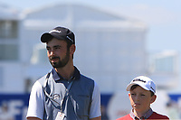 Two O'Driscoll brothers watching Jon Rahm (ESP) on the 10th tee during Round 1 of the HNA Open De France at Le Golf National in Saint-Quentin-En-Yvelines, Paris, France on Thursday 28th June 2018.<br /> Picture:  Thos Caffrey | Golffile