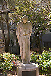 California: San Francisco. Mission Dolores, statue of Junipero Serra in garden. Photo copyright Lee Foster. Photo #: 26-casanf78522
