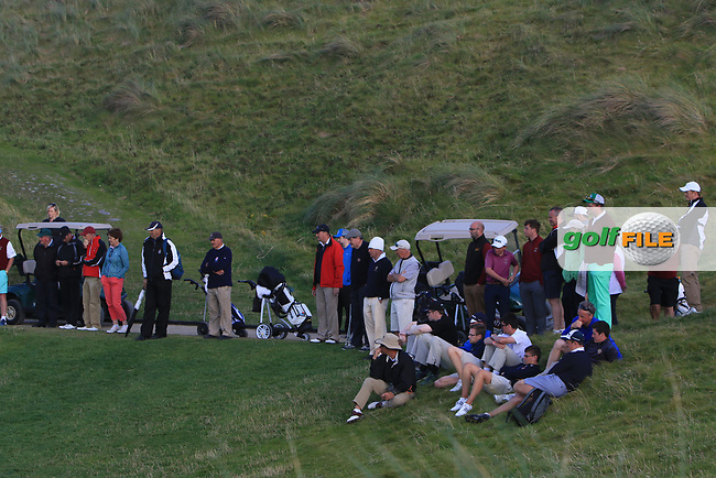Part of the crowd around the 16th green during the Munster Final of the AIG Senior Cup at Tralee Golf Club, Tralee, Co Kerry. 12/08/2017<br /> Picture: Golffile | Thos Caffrey<br /> <br /> <br /> All photo usage must carry mandatory copyright credit (&copy; Golffile | Thos Caffrey)