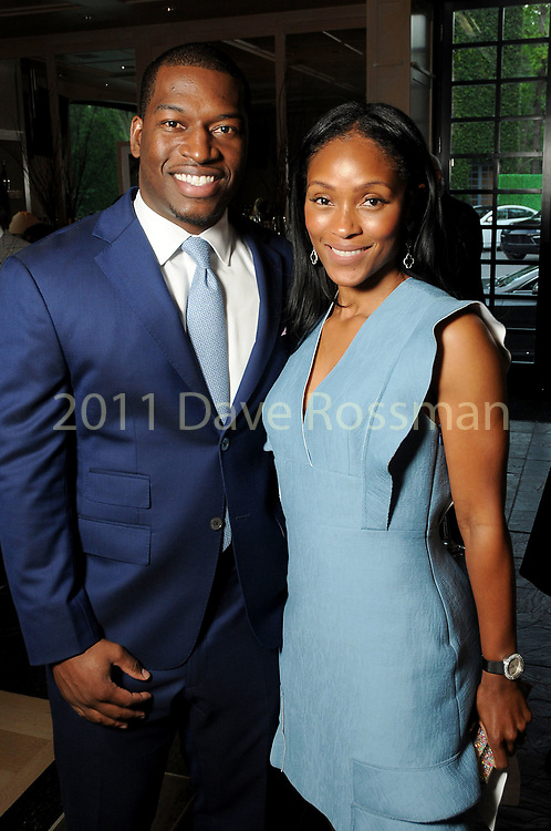 Shamika and Melvin Johnson at the Recipe for Success' Delicious Alchemy Dinner at the home of Becca Cason Thrash Wednesday April 19,2017.(Dave Rossman Photo)