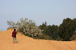 Israel, Sharon region, Dunes in Park Hasharon Nature Reserve
