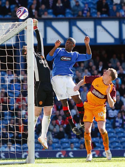 Maurice Edu puts keeper Graeme Smith under pressure
