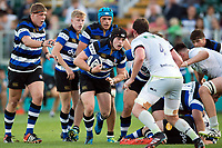 Chris Barry of Bath United in possession. Aviva A-League match, between Bath United and Saracens Storm on September 1, 2017 at the Recreation Ground in Bath, England. Photo by: Patrick Khachfe / Onside Images