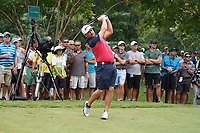 Graeme McDowell (NIR) tees off the 11th tee during Wednesday's Practice Day of the 2017 PGA Championship held at Quail Hollow Golf Club, Charlotte, North Carolina, USA. 9th August 2017.<br /> Picture: Eoin Clarke | Golffile<br /> <br /> <br /> All photos usage must carry mandatory copyright credit (&copy; Golffile | Eoin Clarke)