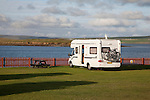 Camping Van at Stromness in Orkney Islands, Scotland