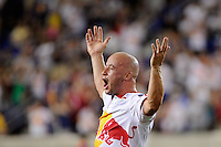Luke Rodgers (9) of the New York Red Bulls reacts to having a goal waved off. The New York Red Bulls defeated Toronto FC 5-0 during a Major League Soccer (MLS) match at Red Bull Arena in Harrison, NJ, on July 06, 2011.