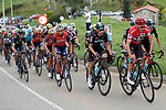 The peloton including race leader Chris Froome (GBR) Team Sky in action during Stage 17 of the 2017 La Vuelta, running 180.5km from Villadiego to Los Machucos. Monumento Vaca Pasiega, Spain. 6th September 2017.<br /> Picture: Unipublic/&copy;photogomezsport | Cyclefile<br /> <br /> <br /> All photos usage must carry mandatory copyright credit (&copy; Cyclefile | Unipublic/&copy;photogomezsport)