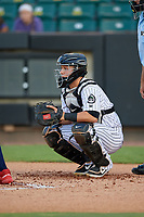 Jackson Generals catcher Daulton Varsho (5) during a Southern League game against the Mississippi Braves on July 23, 2019 at The Ballpark at Jackson in Jackson, Tennessee.  Mississippi defeated Jackson 1-0 in the second game of a doubleheader.  (Mike Janes/Four Seam Images)
