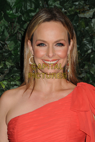MELORA HARDIN.QVC Red Carpet Style Party held at the Four Seasons Hotel, Beverly Hills, California, USA..February 25th, 2011.headshot portrait red one shoulder gold hoop earrings .CAP/ADM/BP.©Byron Purvis/AdMedia/Capital Pictures.