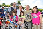 Aidan, Robyn, Leah McCarthy, Kathleen, John Dwyer and Clara McCarthy Killarney having fun at the start of the Honda 50 rally in Faha on Sunday