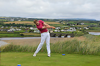 Thomas Mulligan (Co. Louth) on the 9th tee during Matchplay Round 1 of the South of Ireland Amateur Open Championship at LaHinch Golf Club on Friday 22nd July 2016.<br /> Picture:  Golffile | Thos Caffrey<br /> <br /> All photos usage must carry mandatory copyright credit   (© Golffile | Thos Caffrey)