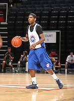 Kyrie Irving handles the ball during the 1st day of the 2009 NBPA Top 100 Basketball Camp held Friday June 18, 2009 in Charlottesville, VA. Photo/ Andrew Shurtleff