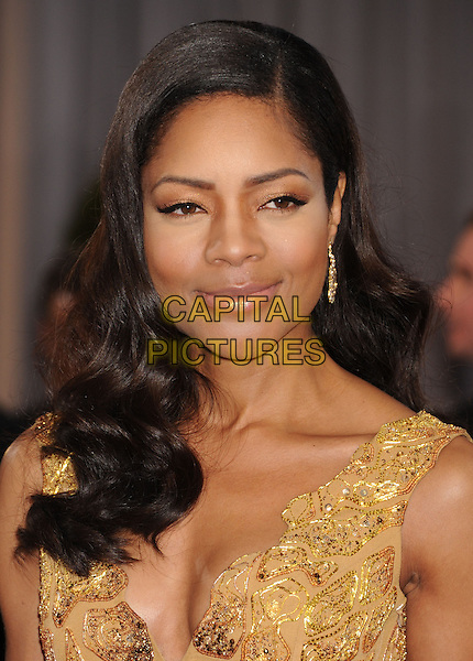 Naomie Harris.85th Annual Academy Awards held at the Dolby Theatre at Hollywood & Highland Center, Hollywood, California, USA..February 24th, 2013.oscars headshot portrait beads beaded gold pattern  .CAP/ROT/TM.©Tony Michaels/Roth Stock/Capital Pictures