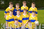 Ardfert NS footballers who displayed their skills at the County Primary Schools Football final in Beaufort on Thursday front row l-r: Fionan Mackessy, Padraig O'Mahony. Middle row: Eoin Kearney, Eoin McElligott, Jesse Stafford-Lacey, Eric Leen. Back row: Jimmy Shanahan, Shane Benner, Iarla Courtney and Bobby O'Regan.