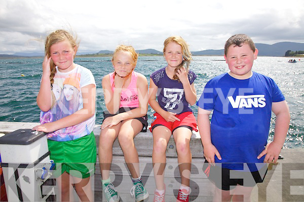 A brave fight from the Valentia U14 crew at the Regatta on Monday pictured here l-r; Ella Corcoran, Eadaoin O'Driscoll, Ruth O'Shea & Sean Daly.