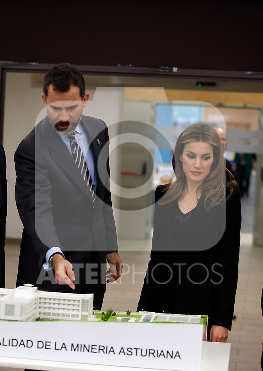 FELECHOSA, SPAIN - JANUARY 24: Prince Felipe of Spain and Princess Letizia of Spain visit 'La Mineria' nursing home for the elderly on January 24, 2013 in Felechosa, Spain. (ALTERPHOTOS/ Víctor J blanco)