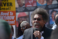 Cleveland, OH - July 19, 2016: Activist and professor Dr. Cornel West speaks at a protest led by the Revolutionary Communist Party during the Republican National Convention in Cleveland, Ohio, July 19, 2016.  (Photo by Don Baxter/Media Images International)