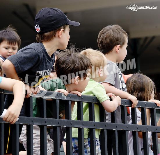 Kids at Delaware Park racetrack on 6/21/14