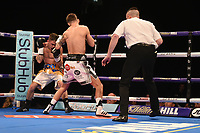 Charlie Edwards (white/black shorts) defeats Ricky Little during a Boxing Show at The O2 on 3rd February 2018