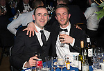 St Johnstone FC Scottish Cup Celebration Dinner at Perth Concert Hall...01.02.15<br /> Captian Dave Mackay and Chris Millar enjoy the evening<br /> Picture by Graeme Hart.<br /> Copyright Perthshire Picture Agency<br /> Tel: 01738 623350  Mobile: 07990 594431