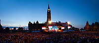 July 1st 2011 File Photo - Ottawa, Ontario, CANADA - Hand Out photo -<br /> <br /> Canada Day 2011 Evening Show on Parliament Hill.<br /> <br /> Spectacle de la soirée sur la colline du Parlement lors de la fête du Canada 2011.<br /> <br /> <br /> <br /> Photo credit: National Capital Commission<br /> Crédit photo: Commission de la capitale nationale