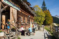 Austria, Styria, near Ardning: Ardning alpine pasture hut | Oesterreich, Steiermark, bei Ardning: Ardninger Alm Huette