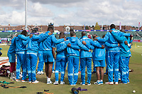 The West Indies team huddle prior to the match during West Indies vs New Zealand, ICC World Cup Warm-Up Match Cricket at the Bristol County Ground on 28th May 2019