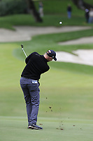 Richard McEvoy (ENG) plays his 2nd shot on the 10th hole during Friday's storm delayed Round 2 of the Andalucia Valderrama Masters 2018 hosted by the Sergio Foundation, held at Real Golf de Valderrama, Sotogrande, San Roque, Spain. 19th October 2018.<br /> Picture: Eoin Clarke | Golffile<br /> <br /> <br /> All photos usage must carry mandatory copyright credit (&copy; Golffile | Eoin Clarke)