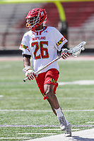 College Park, MD - April 8, 2017: Maryland Terrapins Isaiah Davis-Allen (26) in action during game between Penn State and Maryland at  Capital One Field at Maryland Stadium in College Park, MD.  (Photo by Elliott Brown/Media Images International)