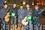 MUSICIANS: Local musicians who sang Christmas carols for Oxfam in the Mall Tralee on Saturday L-r: Sean Brennan, Denis O'Sullivan,Tony Perry,Martin Hurley and Niall O'Brien..... . ............................... ..........