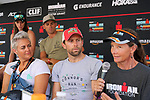 KAILUA-KONA, HI - OCTOBER 11:  The IRONMAN Ambassador Athletes speak during a press conference  leading up to the 2018 IRONMAN World Championships in Kailua-Kona, Hawaii on October 11, 2018. (Photo by Donald Miralle for IRONMAN