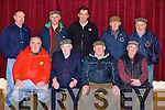 .PLOUGHING: Discussing the fourth coming Abbeydorney Ploughing competition in the Abbeydorney Community Centre on Saturday. Front l-r: Tom O'Mahony, Joe Slattery,Jimmy Lawlor and Sonny Egan. Back l-r: Frank Egan, Do Do O'Connell, Sean Lawlor, DJ O'Connell and Barney Dowling..........