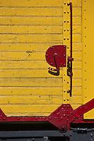 Europe/France/Languedoc-Roussillon/66/Pyrénées-Orientales/Conflent/Villefranche-de-Conflent: Train jaune de Cerdagne - détail du Wagon  Chasse Neige