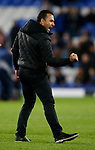 Sofronis Avgousti coach of Apollon Limassol celebrates during the Europa League Group E match at Goodison Park Stadium, Liverpool. Picture date: September 28th 2017. Picture credit should read: Simon Bellis/Sportimage