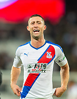 Crystal Palace Gary Cahill celebrating after the Premier League match between West Ham United and Crystal Palace at the Olympic Park, London, England on 5 October 2019. Photo by Andrew Aleksiejczuk / PRiME Media Images.