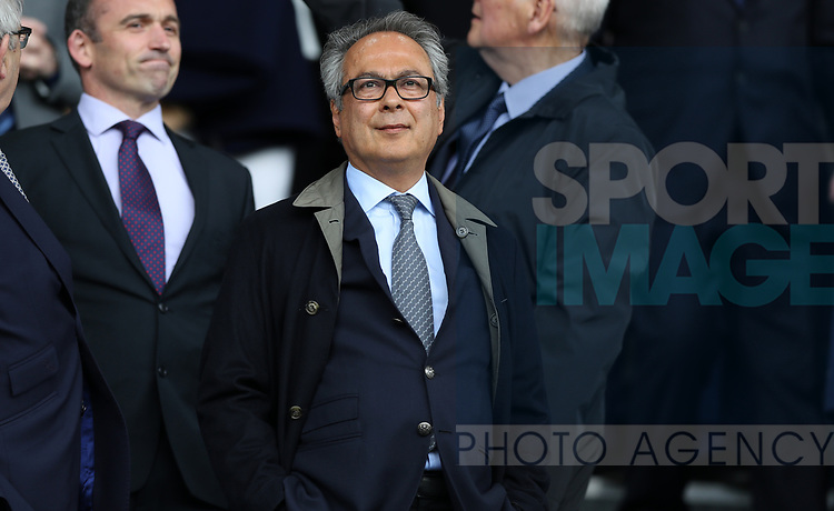 Farhad Moshiri Everton owner in the stand during the English Premier League match at Goodison Park , Liverpool. Picture date: April 30th, 2017. Photo credit should read: Lynne Cameron/Sportimage
