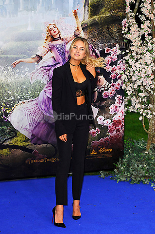 LONDON, ENGLAND - MAY 10: Kimberley Garner attending the 'Alice Through The Looking Glass' European Premiere at Odeon Cinema, Leicester Square in London. on May 10, 2016 in London, England.<br /> CAP/MAR<br /> &copy; Martin Harris/Capital Pictures /MediaPunch ***NORTH AND SOUTH AMERICA ONLY***