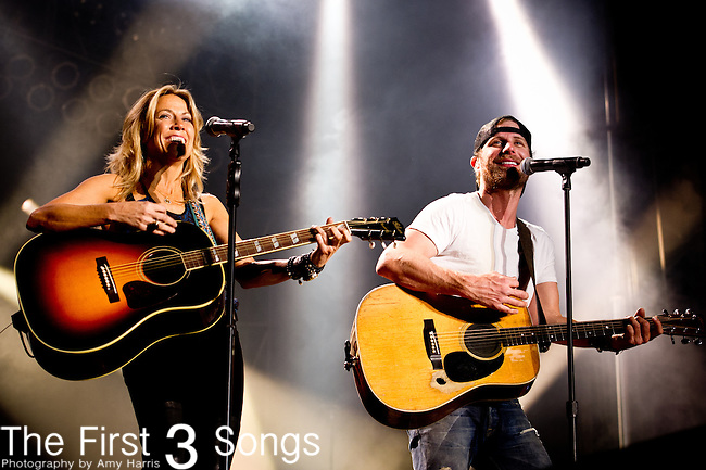Dierks Bentley and Sheryl Crow perform at the ACM Party for a Cause Festival during The ACM Experience at The Orleans Hotel & Casino on April 6, 2013.