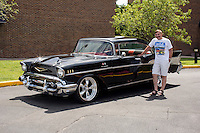 1957 Custom Senior (#121) – 1957 Chevrolet Bel Air 2-Door Hardtop registered to Duane Schaefer is pictured during 4th State Representative Chevy Show on Thursday, June 30, 2016, in Fort Wayne, Indiana. (Photo by James Brosher)