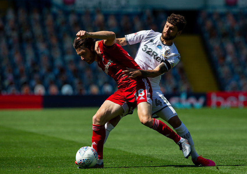 Leeds United's Mateusz Klich battles with Fulham's Harry Arter<br /> <br /> Photographer Alex Dodd/CameraSport<br /> <br /> The EFL Sky Bet Championship - Leeds United v Fulham - Wednesday 24th June 2020 - Elland Road - Leeds<br /> <br /> World Copyright © 2020 CameraSport. All rights reserved. 43 Linden Ave. Countesthorpe. Leicester. England. LE8 5PG - Tel: +44 (0) 116 277 4147 - admin@camerasport.com - www.camerasport.com<br /> <br /> Photographer Alex Dodd/CameraSport<br /> <br /> The Premier League - Newcastle United v Aston Villa - Wednesday 24th June 2020 - St James' Park - Newcastle <br /> <br /> World Copyright © 2020 CameraSport. All rights reserved. 43 Linden Ave. Countesthorpe. Leicester. England. LE8 5PG - Tel: +44 (0) 116 277 4147 - admin@camerasport.com - www.camerasport.com