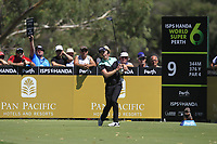 Danny Willett (ENG) in action on the 9th during Round 1 of the ISPS Handa World Super 6 Perth at Lake Karrinyup Country Club on the Thursday 8th February 2018.<br /> Picture:  Thos Caffrey / www.golffile.ie<br /> <br /> All photo usage must carry mandatory copyright credit (&copy; Golffile | Thos Caffrey)