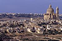 Gozo, Malta.  Town of Xewkija.