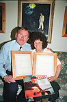 Elvis Fans Maurice and Maureen Colgan From Swords in Co.Dublin with the letters that Elvis sent them.
