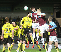Burnley's Kevin Long scores his sides first goal  <br /> <br /> Photographer Mick Walker/CameraSport<br /> <br /> The Carabao Cup Round Three   - Burton Albion  v Burnley - Tuesday  25 September 2018 - Pirelli Stadium - Buron On Trent<br /> <br /> World Copyright &copy; 2018 CameraSport. All rights reserved. 43 Linden Ave. Countesthorpe. Leicester. England. LE8 5PG - Tel: +44 (0) 116 277 4147 - admin@camerasport.com - www.camerasport.com