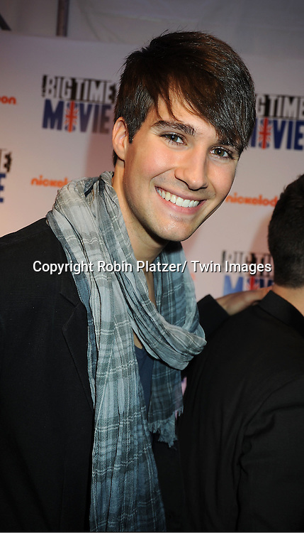 "Big Time Rush""s  James Maslow attends The movie premiere of "" Big Time Movie"" starring .Big Time Rush of Nickelodeon on March 8, 2012 at 583 Park Avenue in New York City."