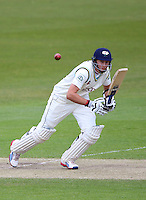 PICTURE BY VAUGHN RIDLEY/SWPIX.COM - Cricket - County Championship - Yorkshire v Derbyshire, Day 2 - Headingley, Leeds, England - 30/04/13 - Yorkshire's Joe Root hits out.